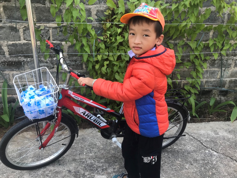 HHV CHILDREN GET NEW BICYCLES FOR SCHOOL