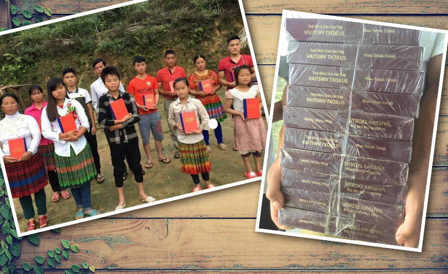 BIBLES FOR VIETNAM'S HMONG TRIBAL PEOPLE